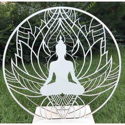 Stylesa - Dřevěný obraz na stěnu Buddha mandala PR0351 i zlatý