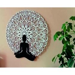 Sentop - Mandala 3D-Bild an der Wand des Buddha-Mandala-Farbdesigns