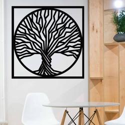 Sentop - Holzbild an der Wand eines Baumes in einem Rahmen