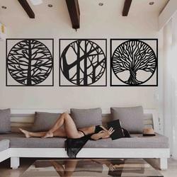 Stylesa - 3-teiliges Gemälde an der Wand DESIRROO