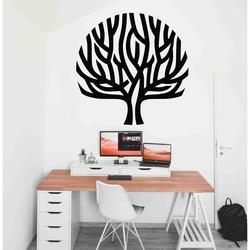 Stylesa - Modernes Holzgemälde an einer Baumwand Wind in den Zweigen