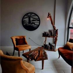 Sentop - Leuchtturm moderne Malerei an der Wand -  Holz dekoration