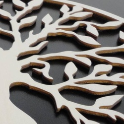 Modernes Gemälde an der Wand - Holz dekoration quadratisch ATALY | SENTOP