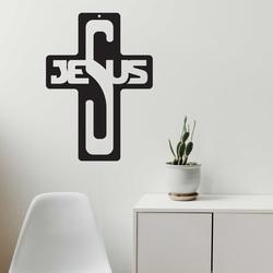 Drewniana ozdoba - Jezus, rozmiar - 260x187 mm