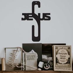 Hölzerne Kreuzdekoration - Jesus, Größe-250x180 mm