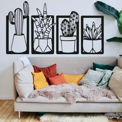 Stilvolles vierteiliges Wandgemälde - CACTACEAE | SENTOP