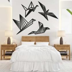 Moderne Malerei an der Wand - freie Vögel 4 Stück - LIBERDADE | SENTOP