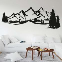 Holzbild an der Wand - BERGE MONTAS | SENTOP