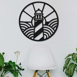 Holzgemälde an der Wand des Leuchtturms am Strand - FEDRO | SENTOP