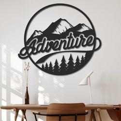 Holzgemälde an der Wand mit Naturmotiv - ADVENTURE | SENTOP