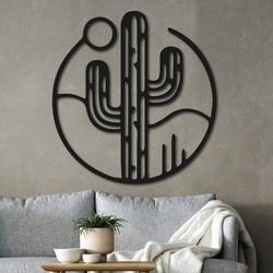 Holzbild an der Wand eines Kaktus mit der Sonne - NIAMEY | SENTOP