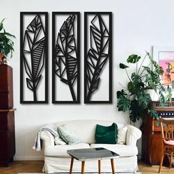 Modernes dreiteiliges Bild von Bananenblättern - MUSACEAE | SENTOP