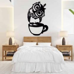 Süßes Bild an der Wand einer Eule in einer Tasse - ROZALKA | SENTOP