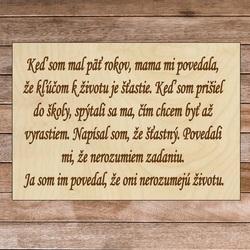 Holzschild mit dem Text - Der Schlüssel zum Leben | SENTOP