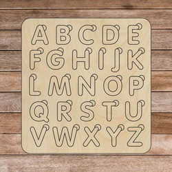 Montessori-Einsatz aus Holz für Kinder - ALPHABETICAL | SENTOP