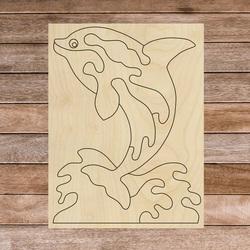 Montessori wooden sensory aid - Dolphin | SENTOP H015 Poplar