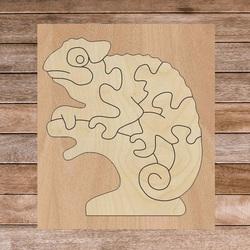 Zweifarbiger Montessori-Einlage aus Holz für Kinder - CHAMÄLEON PAPPEL | SENTOP