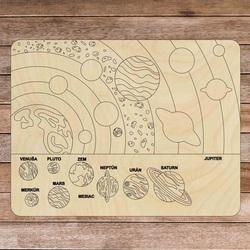 Montessori-Puzzle aus Holz - Sonnensystem 10 Teile | SENTOP
