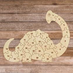 Kinderpuzzle aus Holz - Dinosaurier und Zahlen 26 Teile | SENTOP