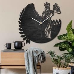 Sternzeichen Uhr - Waage - schwarz und natur | SENTOP PR0447