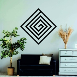 Modern painting on the wall - wooden decoration