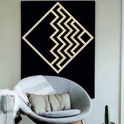Modernes Gemälde an der Wand - Holz dekoration quadratisch FORNET | SENTOP