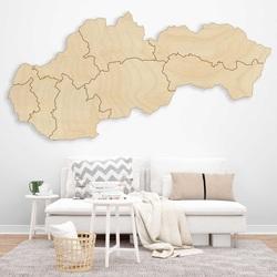 Holzwandkarte Slovakia - 8 Stück | SENTOP