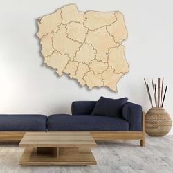 Holzwandkarte Republik Polen - 16 Stück | SENTOP