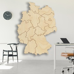 Holzwandkarte Deutschland - 16 Stück | SENTOP