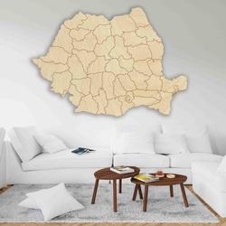 Holzkarte an der Wand Rumänien - 42 Stück | SENTOP