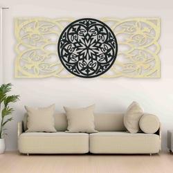 Mandala Bild an der Wand aus Sperrholz Heckteil Pappel Original, Farbe des Vorderteils Ihrer Wahl