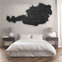 Drewniana mapa na ścianie Austrii - 10 szt | SENTOP