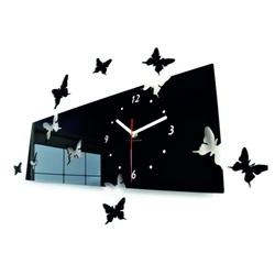 Wandtattoo Uhr Stilvolle Wanduhr Schmetterling Größe 60 x 49 cm