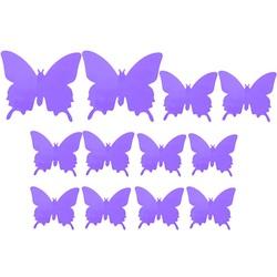 Schmetterlingsaufkleber . Die Farbe Lila Lichter Aufkleber - Schmetterling, 1 Satz - 12 Stück