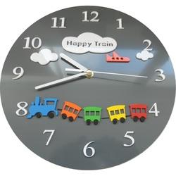 Wanduhr für Kinder trainieren Farbe grau. Größe 30x30 cm CLOUD