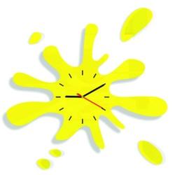 Wanduhr gelbe Sonne Stunden