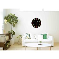Bunte Uhr an der Wand - LANDEN- Farbe: schwarz, rot, gelb