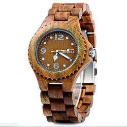 Holz Armbanduhr drei Zahlen
