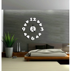 Wandtattoo Uhr Modern 3D Stick Uhr Wanduhr großen