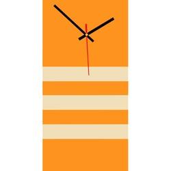 Elegante 3D Wanduhr NATZ, Farbe: orange, weißer Kaffee