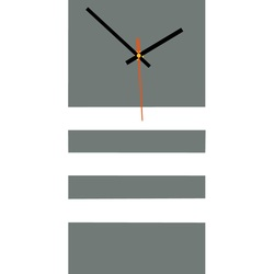 Elegante 3D Wanduhr NATZ, Farbe: grau, weiß