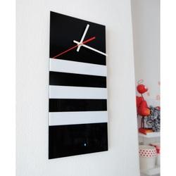 Elegante 3D Wanduhr NATZ, Farbe: schwarz, weiß