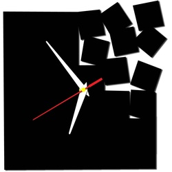 Moderne Wanduhr - Quadrat