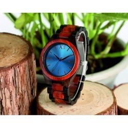 Hölzerne Armbanduhr- Blaue Zwölf-Yisuya
