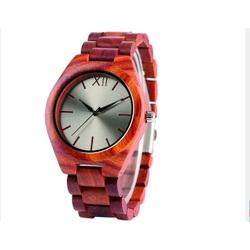 Hölzerne Armbanduhr- Die Rote Zwölf-Yisuya