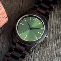 Hölzerne Armbanduhr- Grüne Zwölf-Yisuya