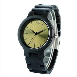 Hölzerne Armbanduhr- Goldene Zwölf-Yisuya