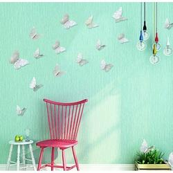 3D-Aufkleber an der Wand Silberner Schmetterling, 1 Set - 12St