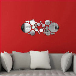 Spiegel DIY Dekoration Kreise. 600x400x3 mm