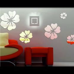 Aufkleber Blumengröße : Ein Satz besteht aus 25 Blättern (5 Stücken von Blumen) fi: 24 cm, 18 cm, 14 cm, 12 cm, 10 cm